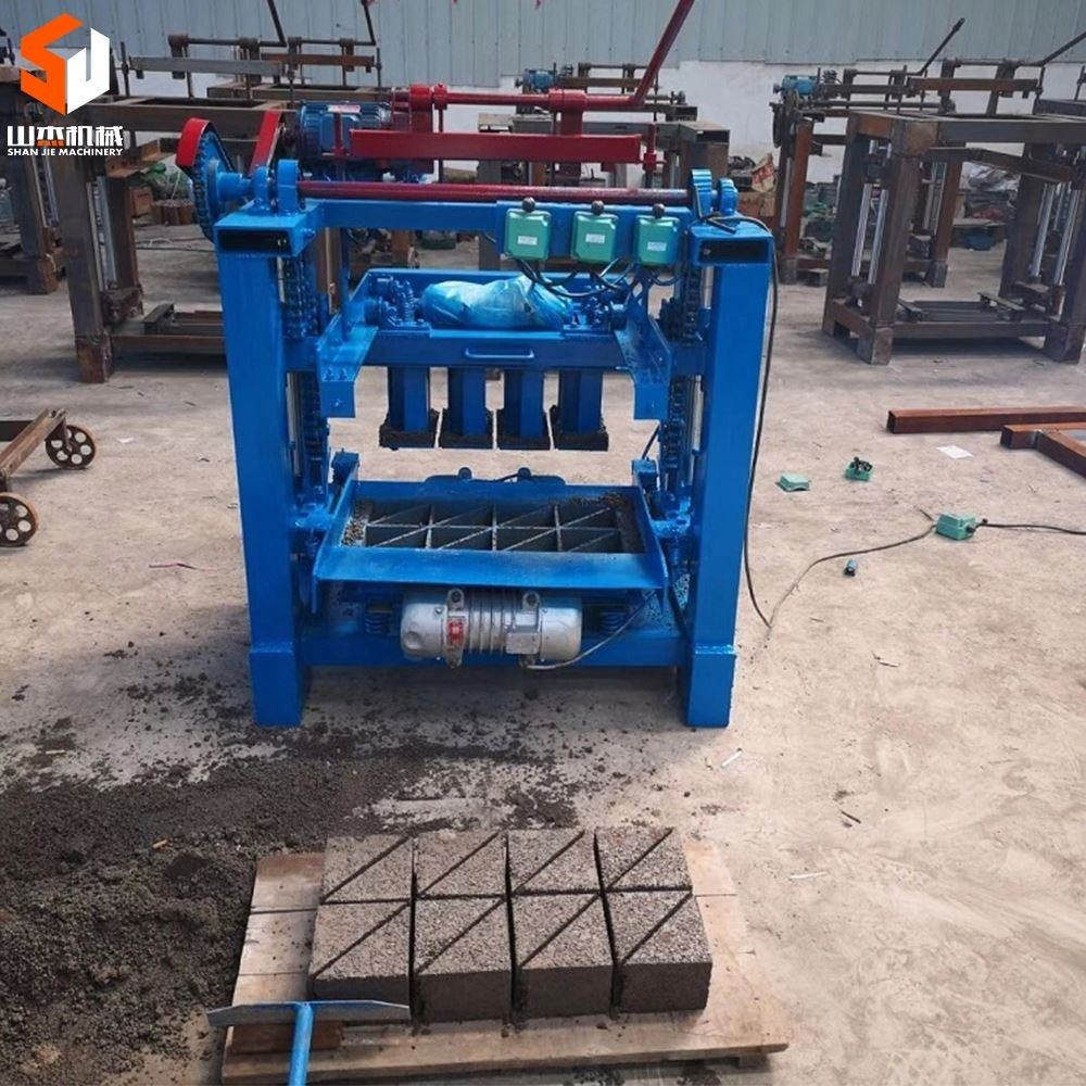 Factory direct sale four pillar guide manual scraping material out brick cement brick making machine