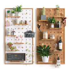custom framed wooden pegboard