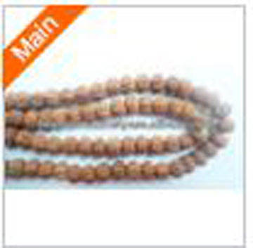 Rudraksha Natural Seed Prayer Beads 8mm Nepal Brown Round Wood 33 Inch Strand