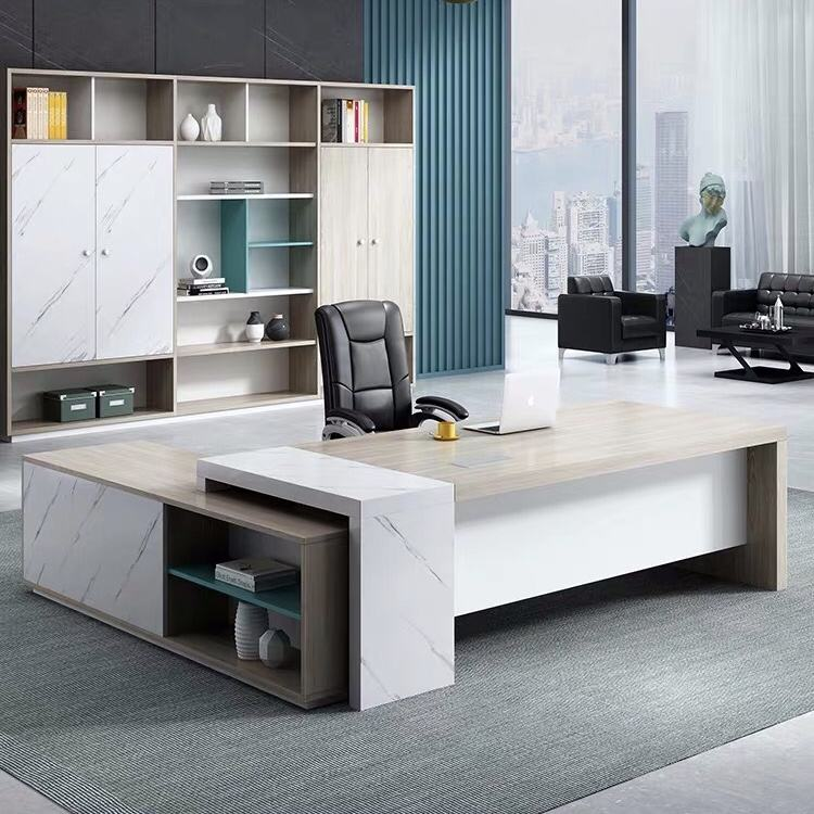 luxury ceo manager modern office desk for office furniture L shaped office desk