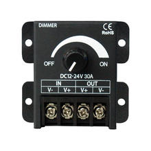 DC12-24V 8A 30A 360W single color Knob led dimmer