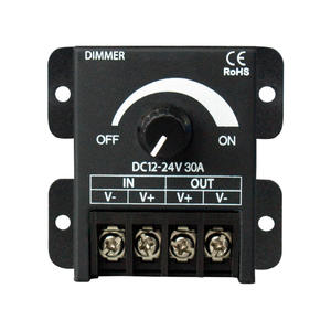 DC12V-24V 1Channel Warna Tunggal Amplifier 8A 16A 30A RF 360W 3 Kunci 30A Satu Warna Tombol LED Dimmer