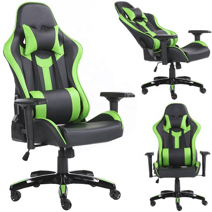 Best Green Leather Cadeira Gamer Racing Gaiming A Chair Gaming