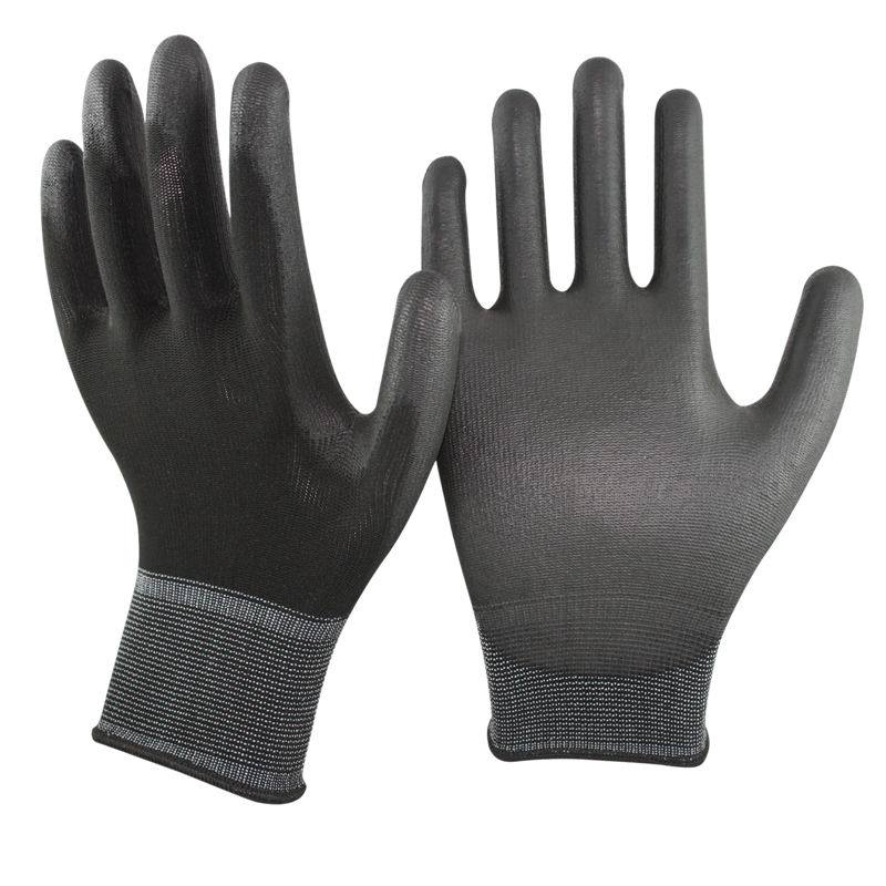 CE certificate Chinese manufacture work pu coated gloves