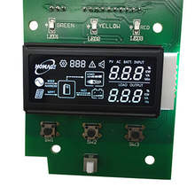VA negative transmissive 6 oclock segment monochrome  LCD display module manufacturer with IC HT1621