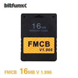 Bitfunx Newest High Quality 16MB v1.966 Free McBoot FMCB Memory Card for SONY Playstation2 PS2