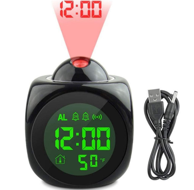 LCD Projection Alarm Clock Projects Time alarm clock