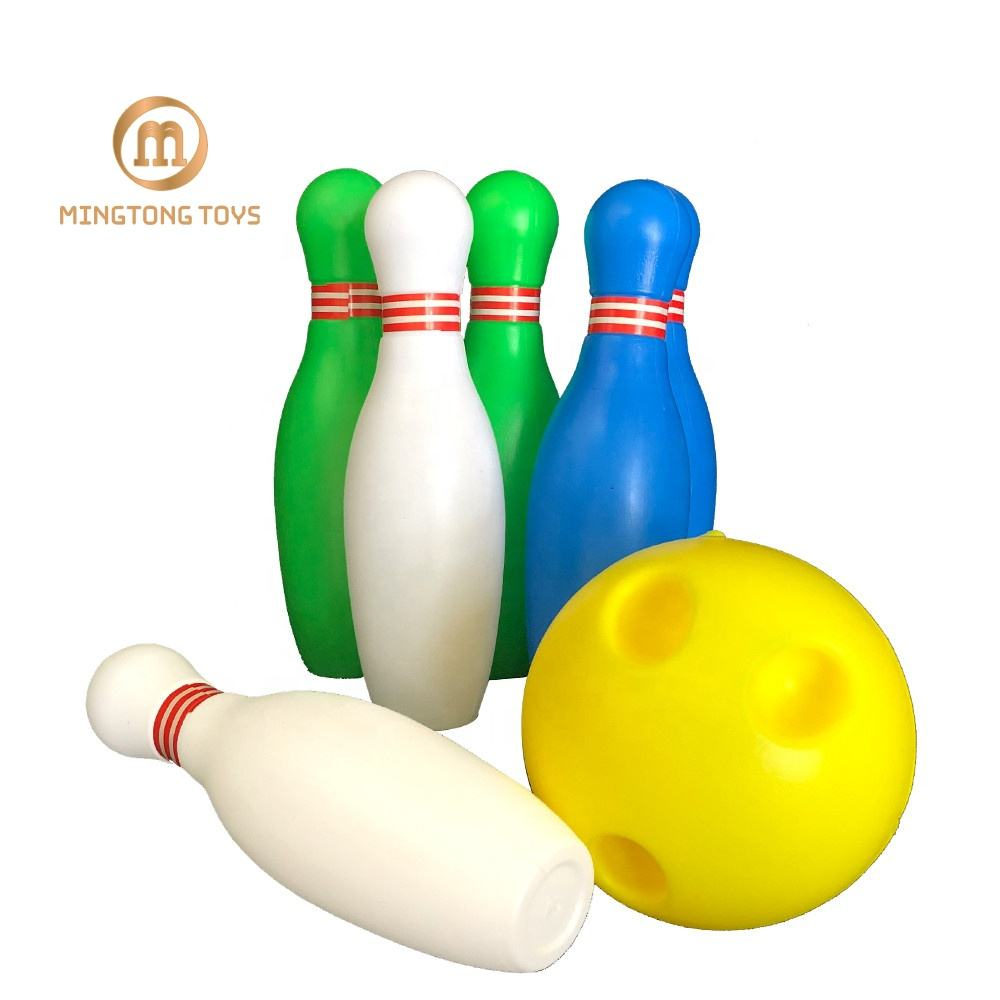 Funny educational toddler indoor family sports skittles game plastic ball toy tin kids bowling set