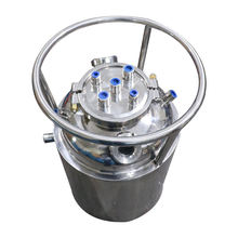 Customized Stainless Steel Pressurized BHO Sight Glass Recovery Tank With Ring Handle for BHO extractor