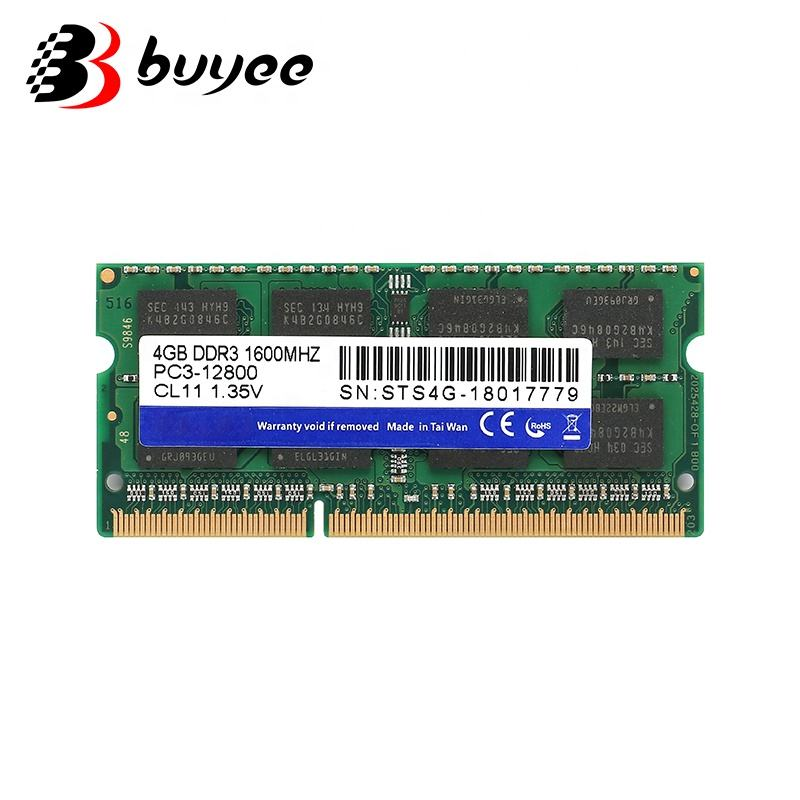 노트북 RAM 4GB DDR3 1600MHZ PC3-12800 CL11 1.35V SemoTai 메모리 카드