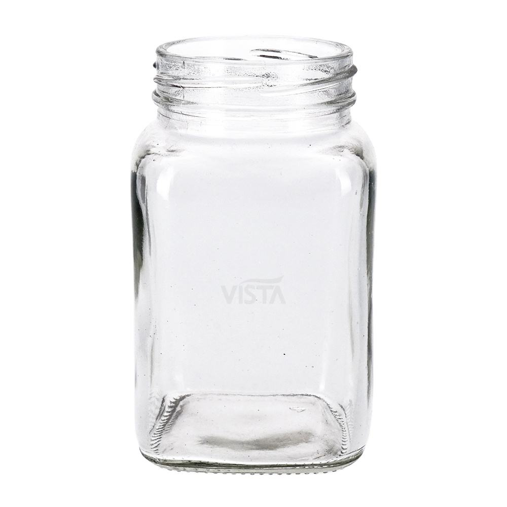 200ml 350ml Food Square Normal Flint Glass Jar