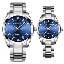 Hot couple 904l steel watch fashion design couple watches with removable strap