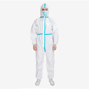 Sidiou Group pp+pe Protective Clothing Disposable Isolation Clothes Nonwoven Microporous Coverall Suit With Hood and Boot
