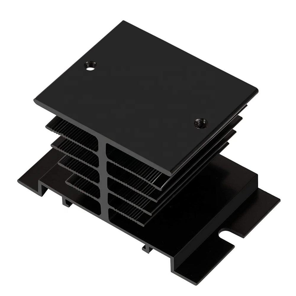 Factory Black/Silver Aluminum Heat Sink SSR Dissipation for Single Phase Solid State Relay 10-40A