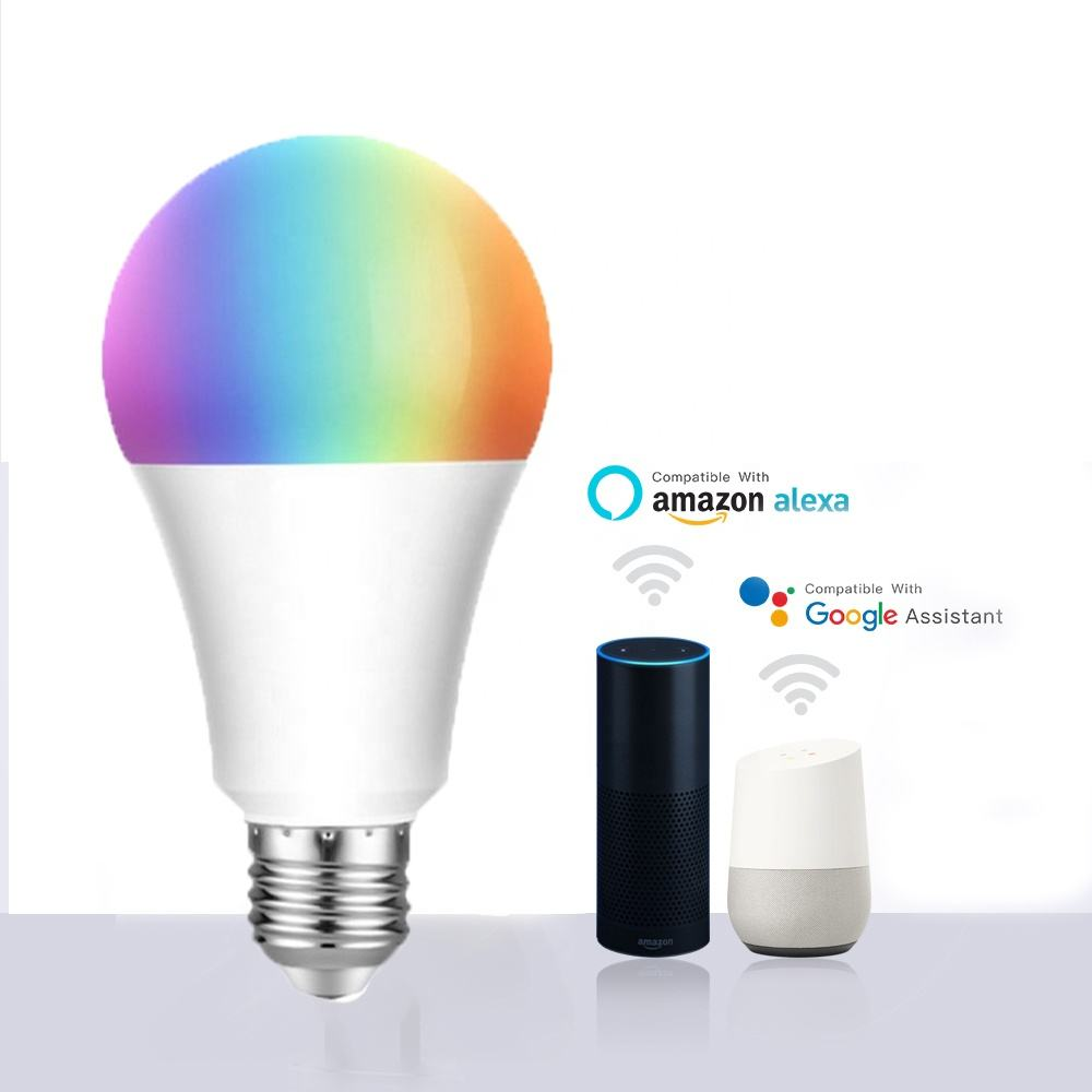 Free Logo Printing Factory Price China WIFI 9W Dimmable Led Bulb Compatible With Alexa Google Tuya Smart APP Control light bulb