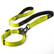 Custom Pet Accessories Reflective Tape Quick Release Buckle Dog Collars And Leash