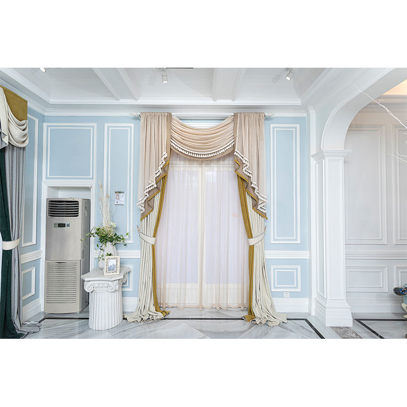 Latest decorative custom luxury home jacquard window valance curtain