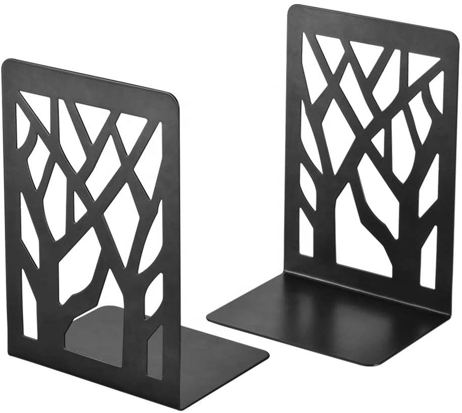 Stargood factory custom lots of design metal bookend decorative tree shape bookends for bookcase ,bookshelves