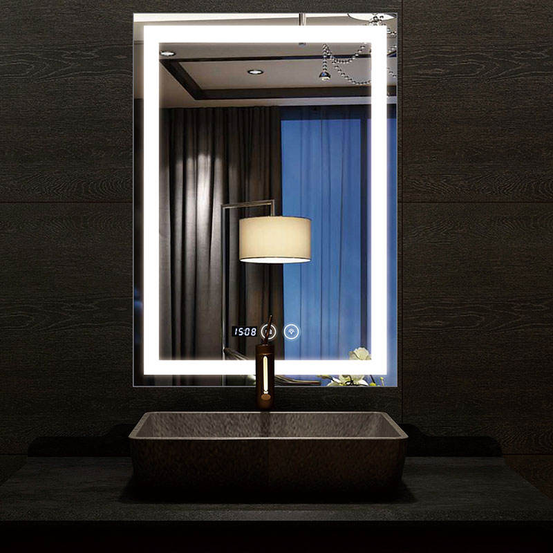 Led Lighted Bathroom Touch Screen Smart Mirror Price With Bluetooth/radio/clock/temperature