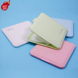2020 New Multi-color Mask Storage Box PP N95 Mask Holder Small Foldable Square KN95 Mask Case