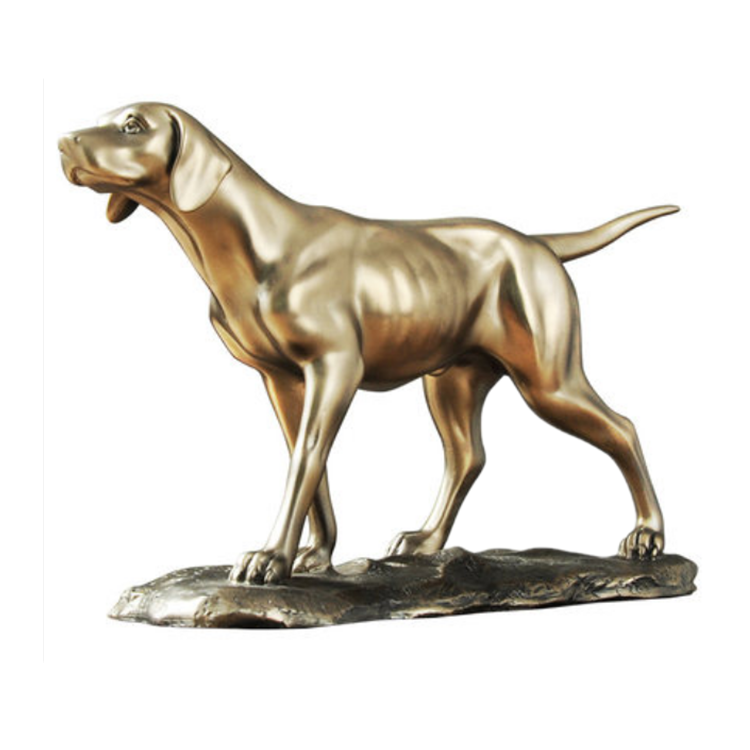 Pointer Dog Sculpture Home Desk Showcase Decoration Pieces