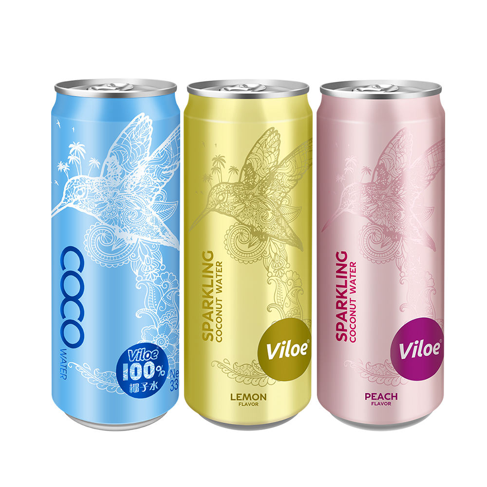 Viloe Soft Drink Carbonated Sparkling Drinks Tinned Coconut Water Juice