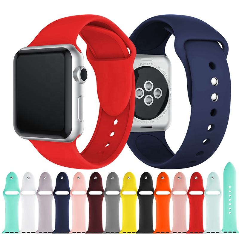 For Apple Watch Band,For Apple Watch Strap,Silicone Sport Smart Watch Band For iWatch Accessories 51 colors