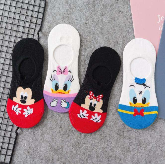 Summer Casual women socks Korea women animal cartoon mouse ankle socks cute invisible thin cotton boat socks