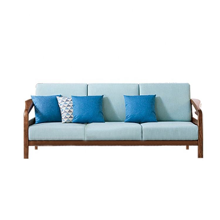 Hot Sales Modern American Solid wood frame Comfortable sitting Three seat sofa