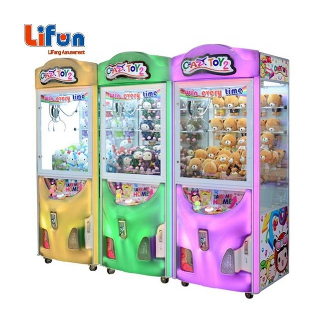 Factory Wholesale Coin Operated Prize Vending Game Machine For Sale Arcade Led Candy Crane Toy Claw Machine Malaysia