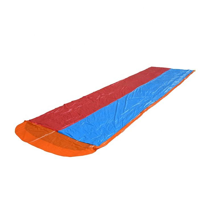 P&D EN71 PVC Custom Splash Inflatable Slip N Slide Double Lane 16ft Plastic Inflatable Water Slide