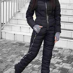 Outdoor Winter Clothing Set Women Integrated Ski Suit