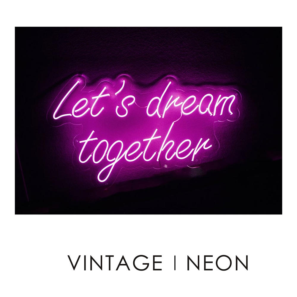 Let's dream together neon 2019 new arrival magic motorcycle lighting rgb neon sign