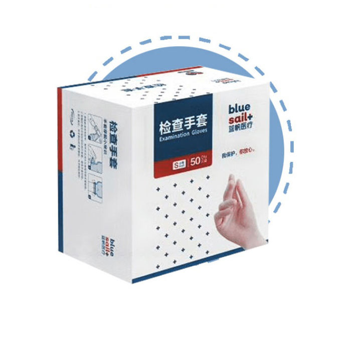 One time vinyl disposable plastic medical hand gloves