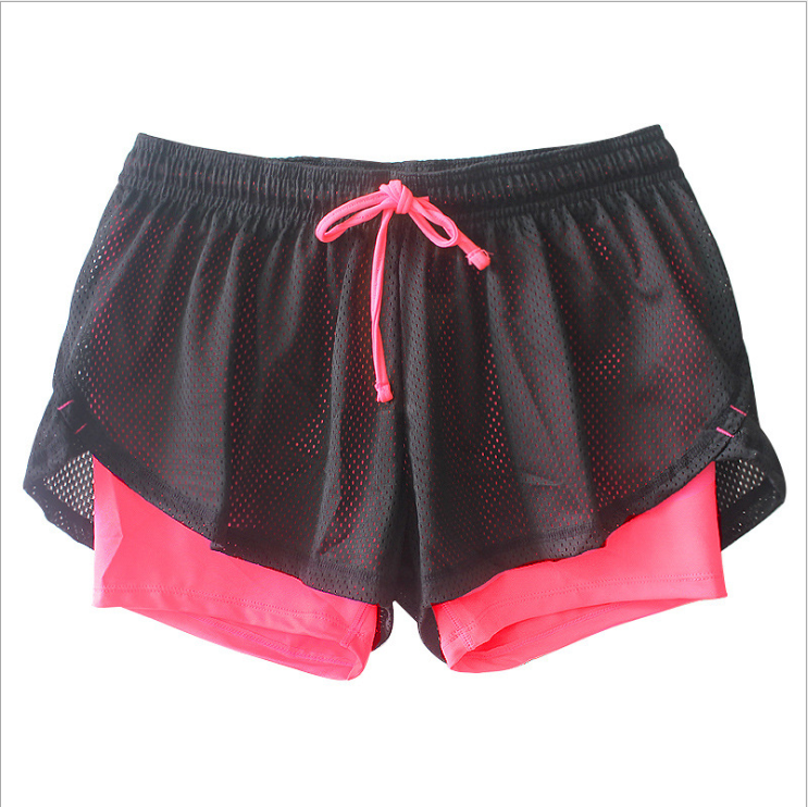 New style false two piece running training fast dry leisure anti flash ladies yoga gym shorts