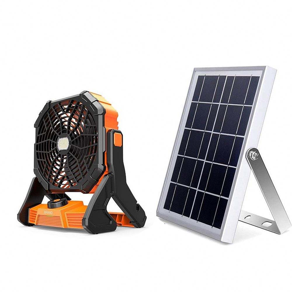 Indoor Outdoor 12V Dc Oplaadbare Draagbare Auto Cool Solar Outdoor Fan
