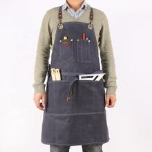 Custom Best vintage waterproof waxed canvas leather carpenter work tool apron for men