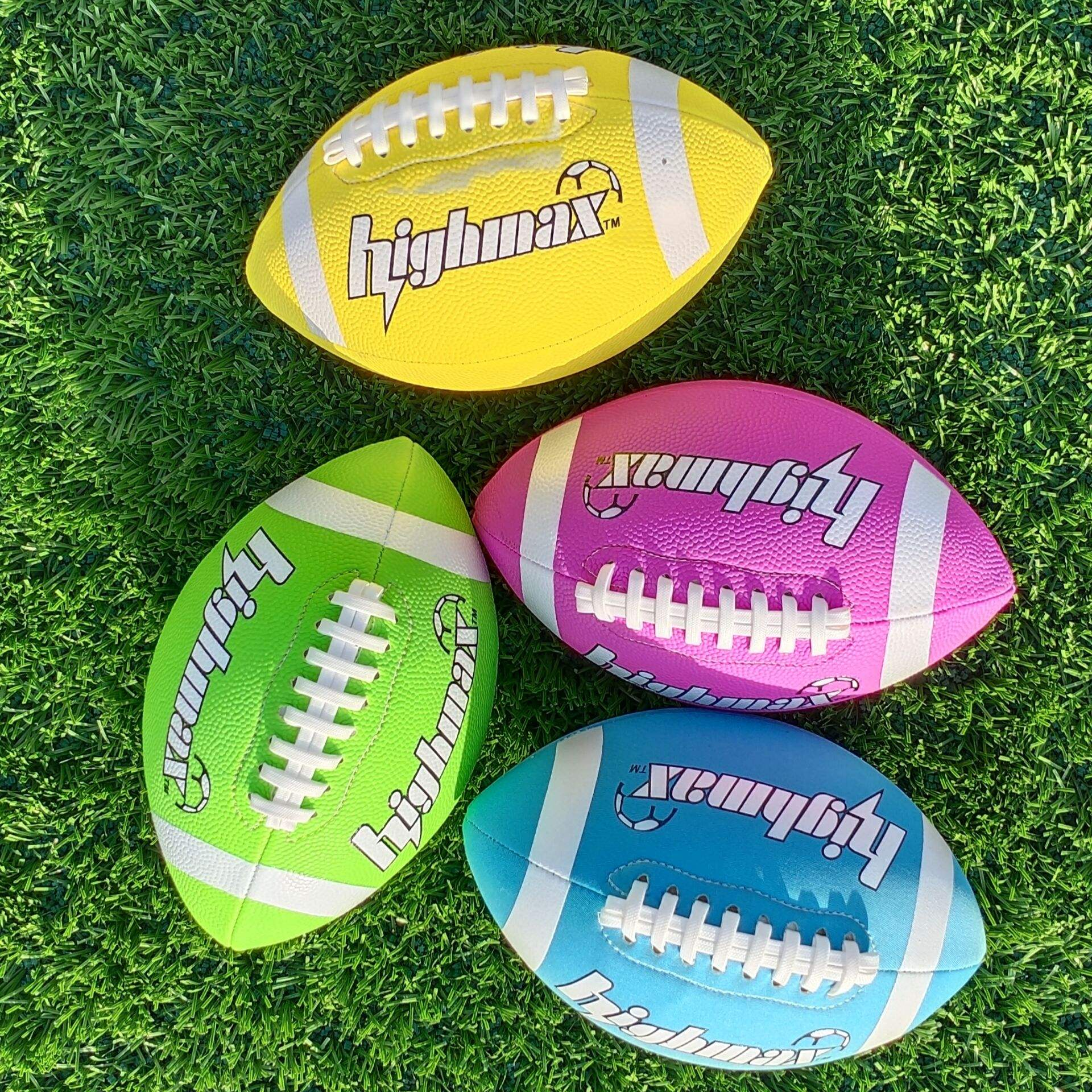 wholesale logo rugby ball toy mini kids ball football 3 cloth ball rugby custom pvc rugby