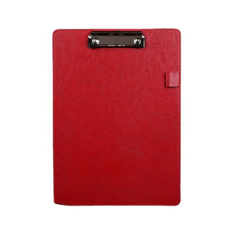 wholesale low price high quality writing board A4 leather custom clip board