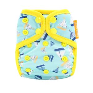 Happyflute cloth Diaper Cover Waterproof PUL Double Gussets Tiny newborn diaper cover