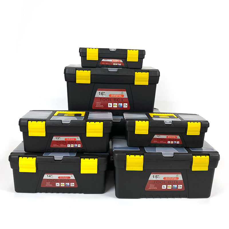 Amazon hot selling high quality customized different sizes plastic tool box used to store hand tools