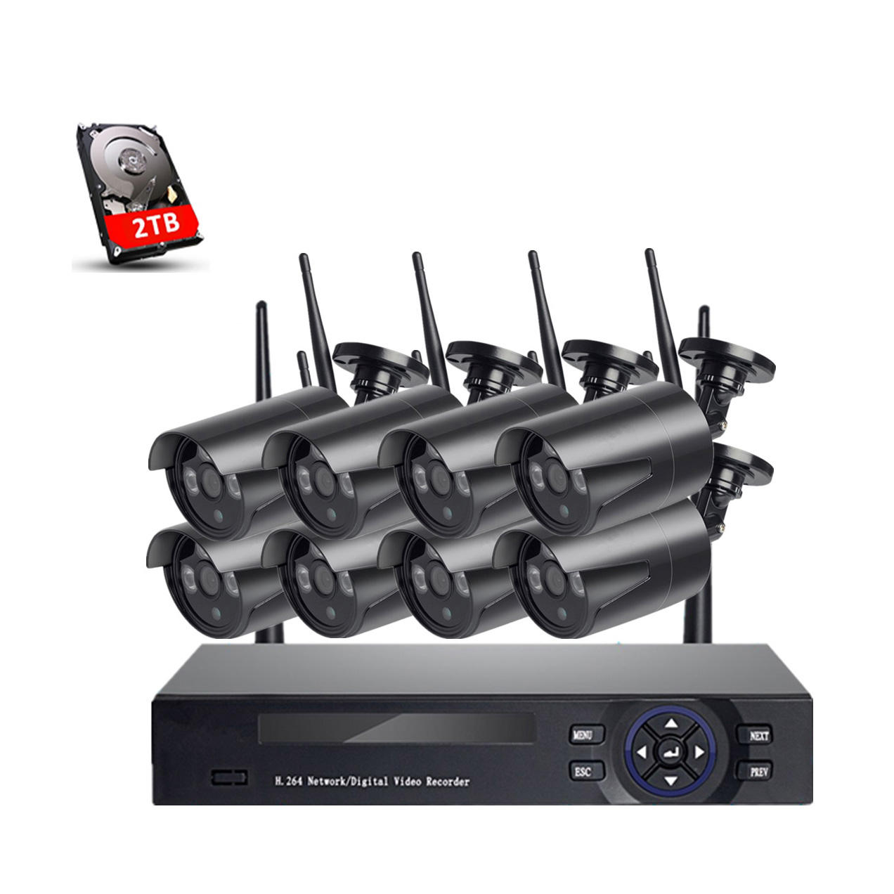 Outdoor Wireless System 2Mp Night Vision Security Hd Ip 8Chs Cam Mini Wifi Indoor 1080p Cctv Camera