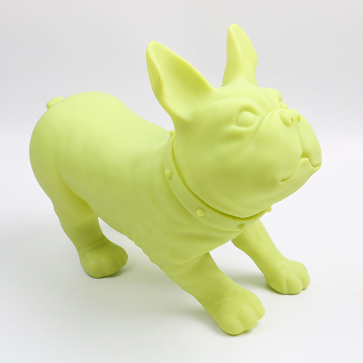Factory Price Many Types Of Green Plastic Puppy Company Office Decoration
