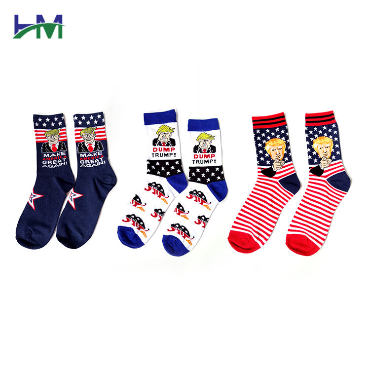 HM-Z015 Famous Picture Series Combed Cotton Men Socks Cheap New Knitted Cotton European and American Abstract portraits Couple