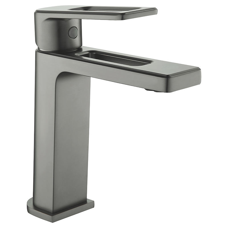 Washroom Handle Bathroom Sink Set Brass Basin Mixer Faucet