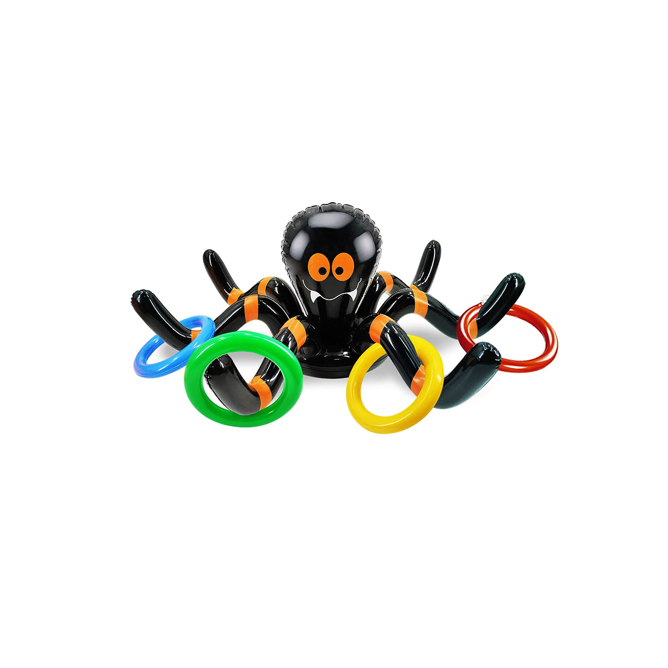 Halloween Party Inflatable Spider Pool Ring Toss Gift Inflatable Spider Floating Swimming Pool Inflatable Toys