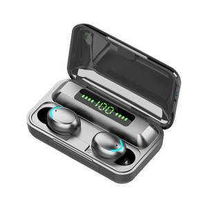 F9-5C TWS IPX5 2000mAh Battery Blue tooth Waterproof in-Ear Stereo True Wireless Earbuds