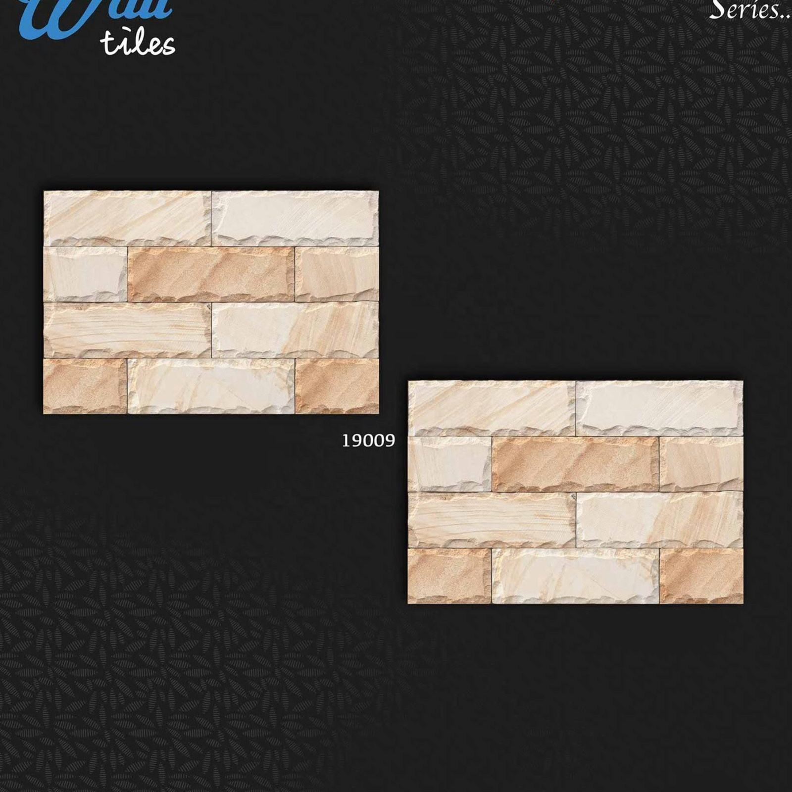 Brick Stone 3D Design Digital 30x45 cm Building Exterior 300x450 mm Ceramic elevation Outside 12x18 Tiles in Best Price India
