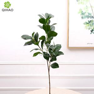 QiHao Artificial Fake Peperomia Plant Long Stem Green Leaves Watercress Leaves