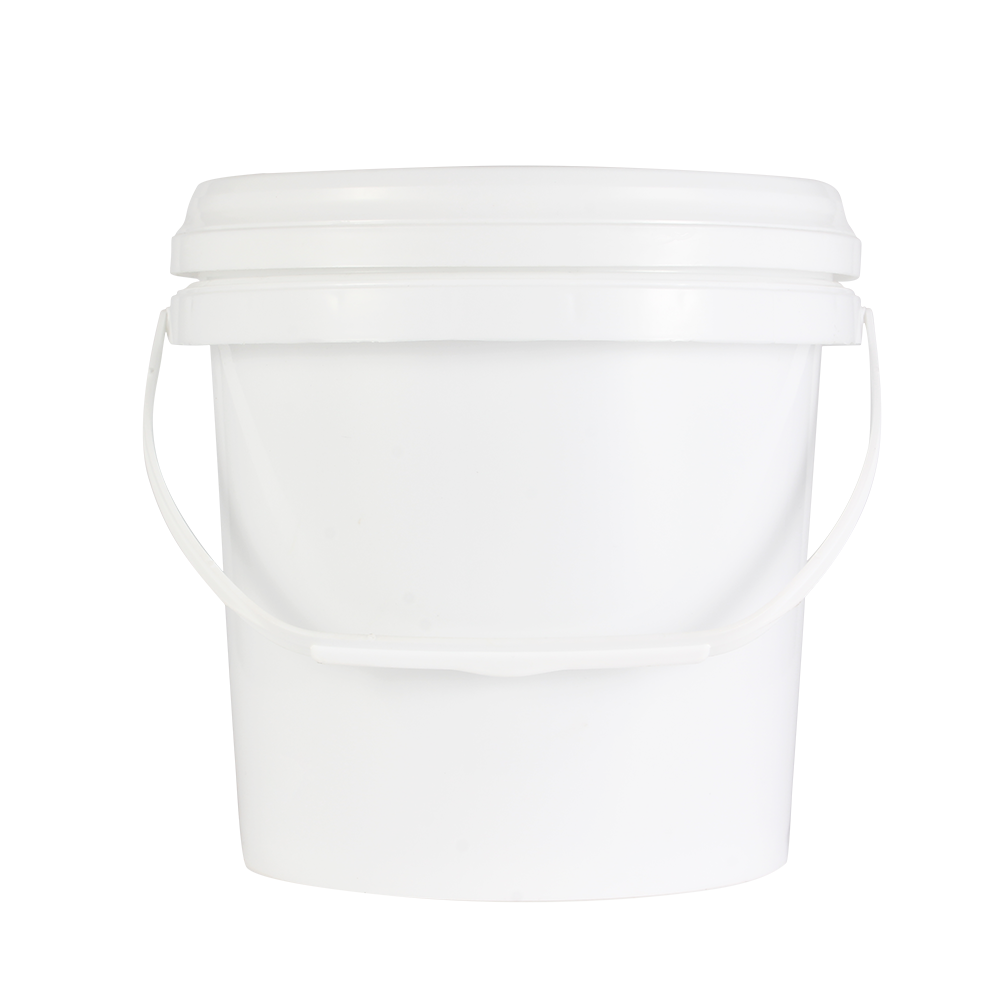 2L White round plastic Chemical bucket